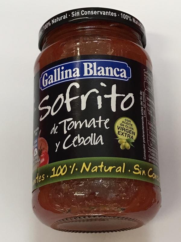 Sofrito de tomate y cebolla Gallina Blanca