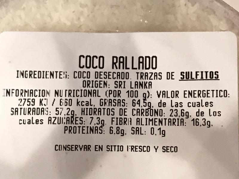 Coco rallado Carrefour