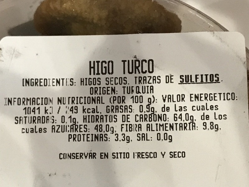 Higos secos Carrefour
