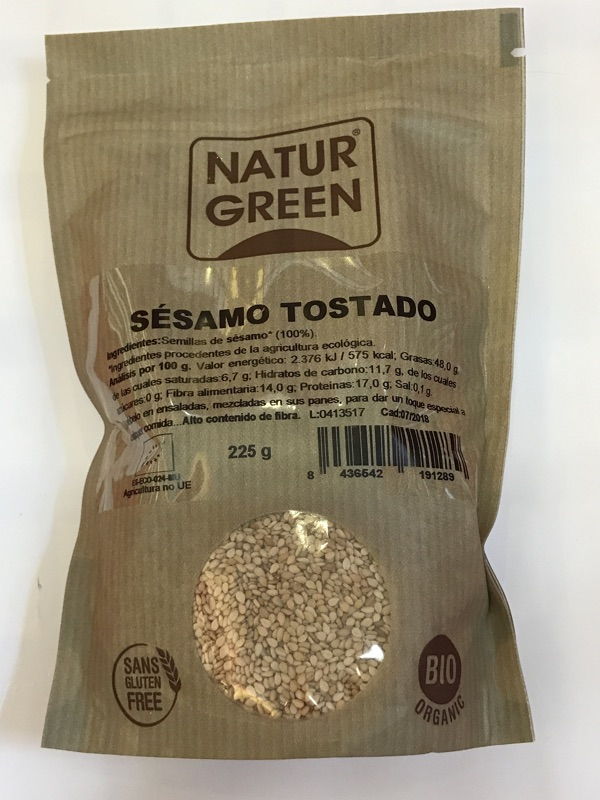 Semillas de sésamo tostado Naturgreen