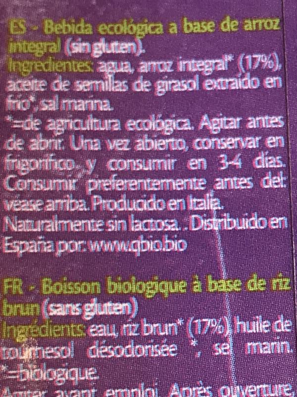 Bebida de arroz IsolaBio