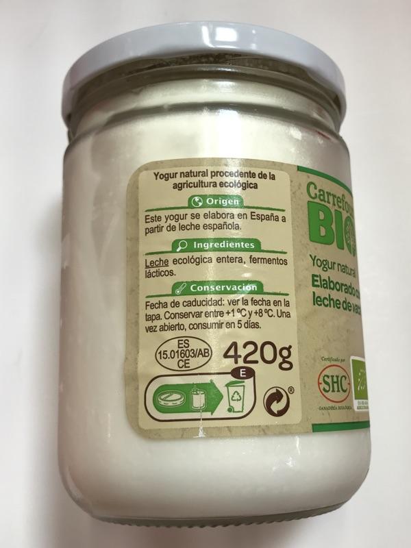 Yogur de leche de vaca Carrefour Bio