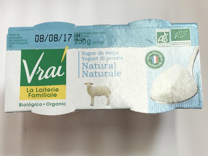 Yogur de oveja Vrai