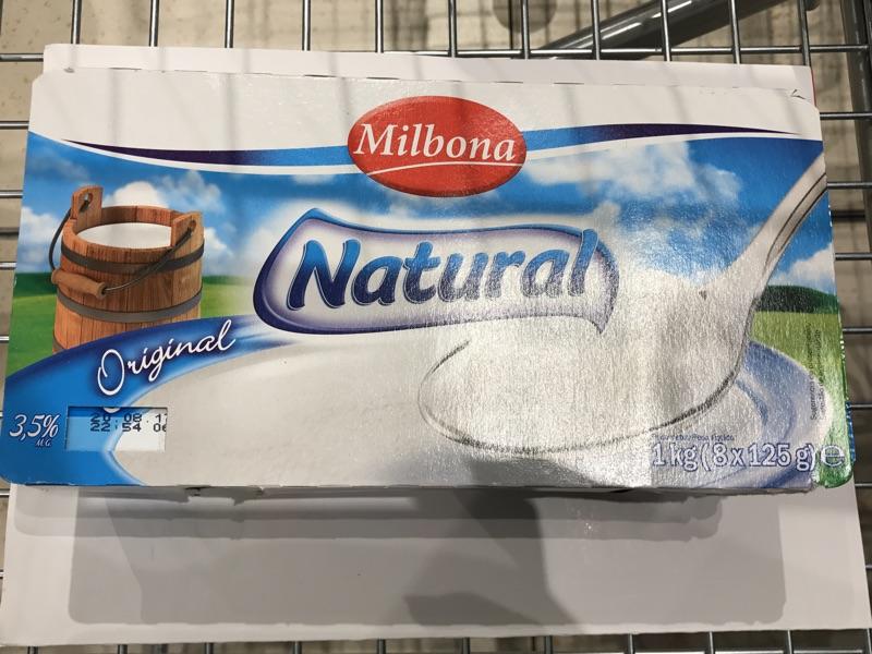 Yogur natural Milbona