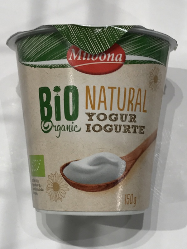 Yogur natural bio Milbona