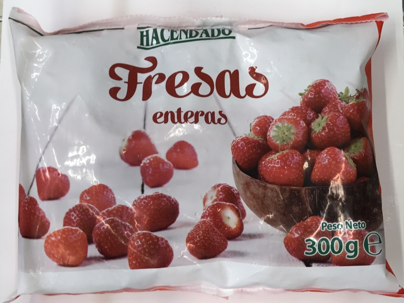 Fresas congeladas Hacendado
