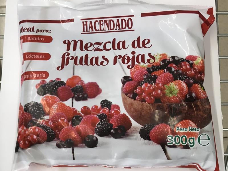 Frutos rojos congelados Hacendado
