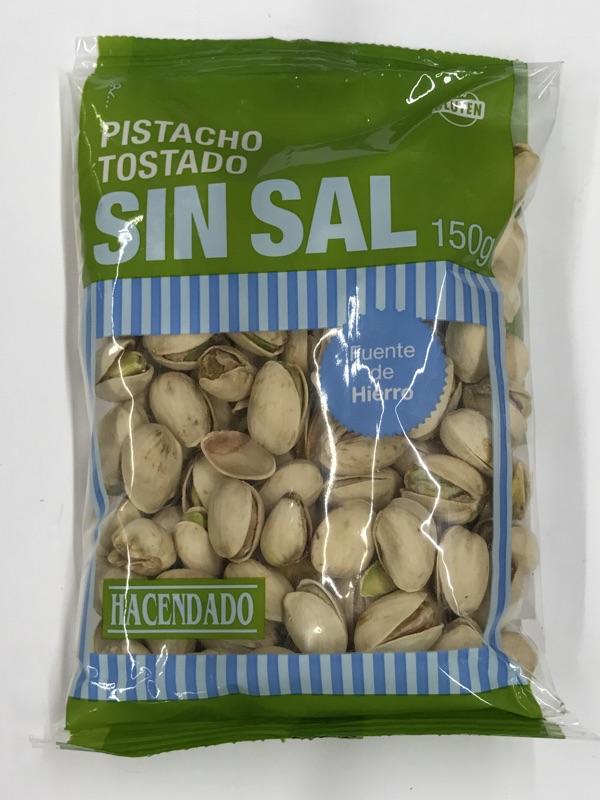 Pistachos sin sal Hacendado