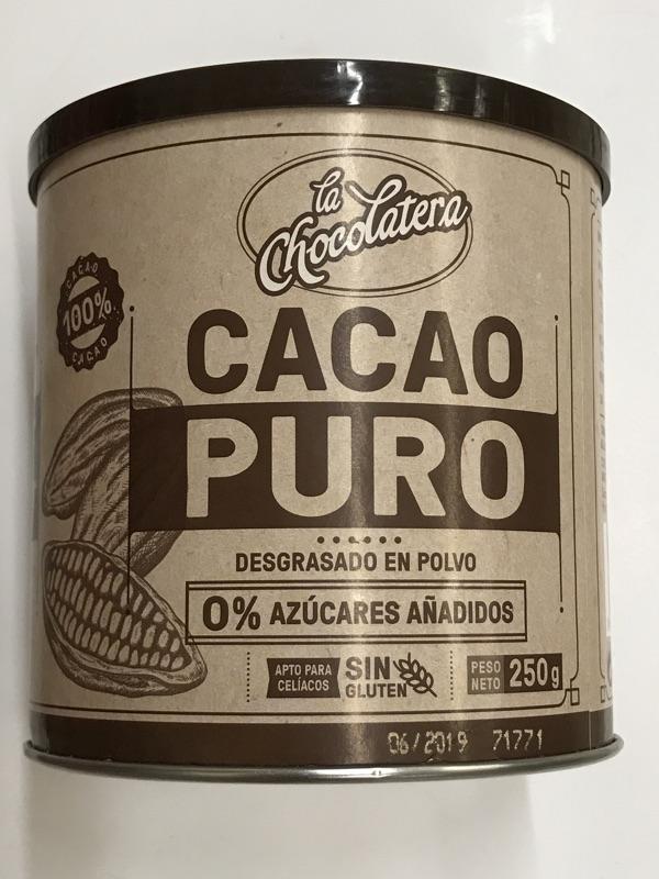 Cacao puro en polvo La Chocolatera Hacendado
