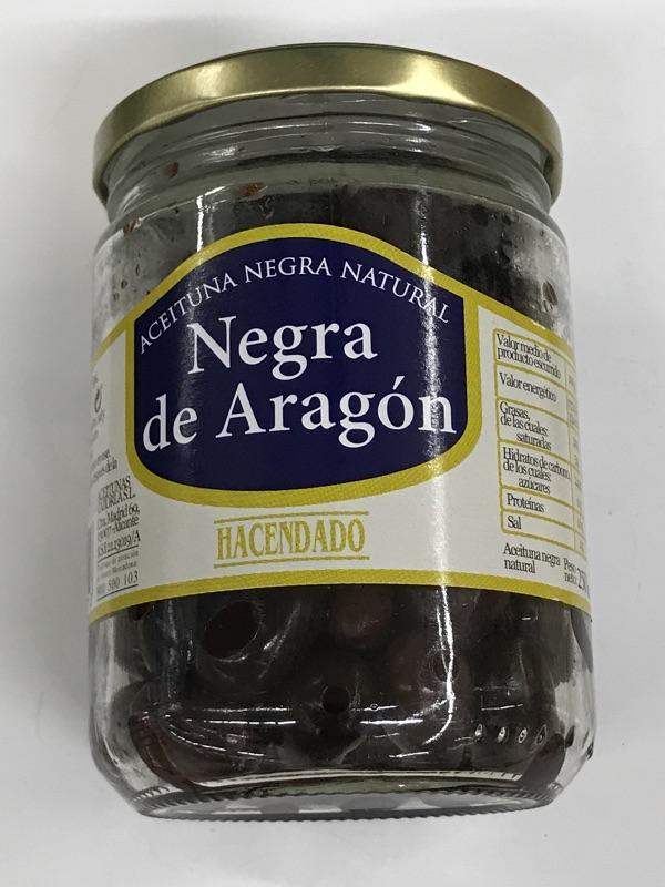 Aceituna negra de Aragón Hacendado