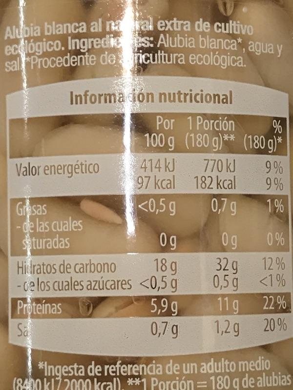 Alubia blanca cocida GutBio