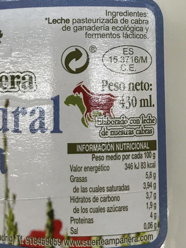Yogur de cabra SuerteAmpanera