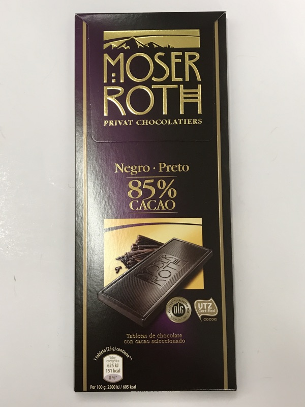 Chocolate Moser Roth 85%